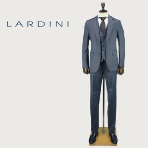 LARDINI ラルディーニ メンズ ウール ストレッチ 段返り3つボタン 3ピース シングルスーツ JL94033AQ/IERP49492/41/1 (ブルーグレー)レビューを書いて送料無料|laglagmarket