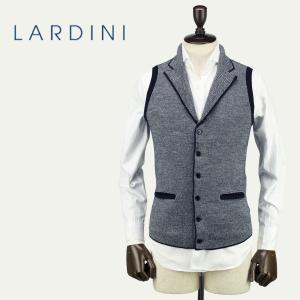 LARDINI ラルディーニ メンズ ウール ニット 6B シングル ラペルジレ JLLGSM24/IE49031/850 (ネイビー)レビューを書いて送料無料|laglagmarket