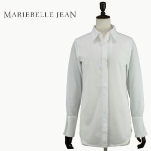 2017-18年秋冬新作 国内正規品 MARIEBELLE JEAN マリベルジーン レディース イージーケア コットンカットソーシャツ 33173801 Basic Shirts (ホワイト)|laglagmarket