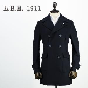 2017-18年秋冬新作 国内正規品 L.B.M.1911 エルビーエム1911 メンズ ウールカシミヤ 6B ポロコート 7L91180516 001 (ネイビー)|laglagmarket