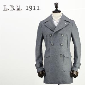 2017-18年秋冬新作 国内正規品 L.B.M.1911 エルビーエム1911 メンズ ウールカシミヤ 6B ポロコート 7L91187048 002 (ライトグレー)|laglagmarket