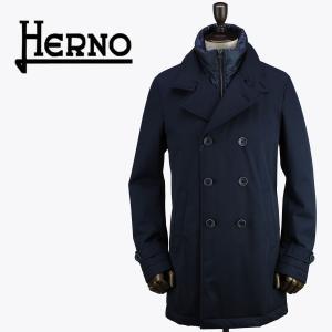 セール 国内正規品 HERNO ヘルノ ヘルノテック サーモア ストレッチ 2WAY ロングピーコート HERNO TECH IM0114U 33515S+12020/C/O(ネイビー)special priceAM|laglagmarket