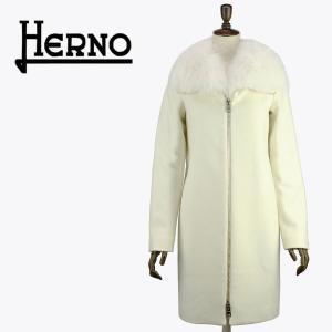 セール 国内正規品 HERNO ヘルノ レディース フォックスファー付き メルトンウールコートCA0164D(ホワイト)special priceAL|laglagmarket