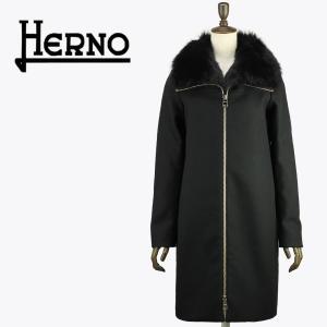 セール 国内正規品 HERNO ヘルノ レディース フォックスファー付き メルトンウールコートCA0164D(ブラック)special priceAL|laglagmarket