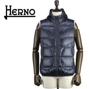 セール 国内正規品 HERNO ヘルノ メンズ 超軽量 パッカブル 撥水 ダウンベスト CINQUE DENARI PI0440U 12194/I 9200(ネイビー)special priceAM|laglagmarket