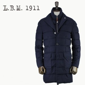 2017-18年秋冬新作 国内正規品 L.B.M.1911 エルビーエム1911 メンズ ウール ダウンチェスターコート 7L93685079 003 (ネイビー)|laglagmarket