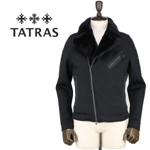 セール 国内正規品 TATRAS タトラス Rライン メンズ ウール ダブルライダース ダウンジャケット FEDI MTA18A4509 (ブラック)special priceAM|laglagmarket