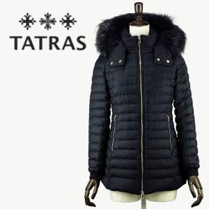 セール 国内正規品 TATRAS タトラス R LINE フードファー付き シルクウール ミドル丈 ダウンジャケット PRIMULA LTA18A4652(チャコールグレー)special priceAL|laglagmarket