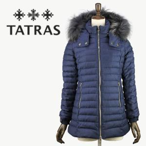 セール 国内正規品 TATRAS タトラス R LINE フードファー付き シルクウール ミドル丈 ダウンジャケット PRIMULA LTA18A4652(ネイビー)special priceAL|laglagmarket