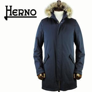 2017-18年秋冬新作 国内正規品 HERNO ヘルノ メンズ サブゼロ ダウンモッズコート SUB-ZERO PI0404U 19124S/FUR/D 9200 (ネイビー)|laglagmarket