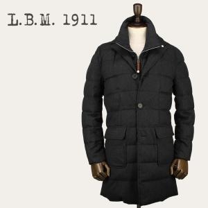2017-18年秋冬新作 国内正規品 L.B.M.1911 エルビーエム1911 メンズ ウール ダウンチェスターコート 7L93685079 002 (チャコールグレー)|laglagmarket