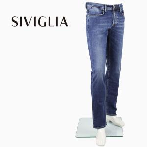 2018年春夏新作 国内正規品 SIVIGLIA シヴィリア/シビリア メンズ 5ポケット ストレッチ ウォッシュド デニム DENIM Core 222J/S998/6002/7 (ブルー)|laglagmarket