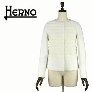 2018年春夏新作 国内正規品 HERNO ヘルノ レディース IN-TECH インテック ノーカラージャケット PC0042D(ホワイト)|laglagmarket