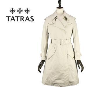 TATRAS タトラス レディース インナーダウンベスト付 コットンナイロン トレンチコート  Lachenalia LTK18S4133 (クリーム)|laglagmarket