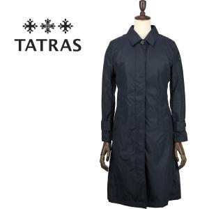 2018年春夏新作 国内正規品 TATRAS タトラス レディース インナーダウンベスト付 コットンナイロン ステンカラーコート Ardisia LTA18S4668(ブラック)|laglagmarket