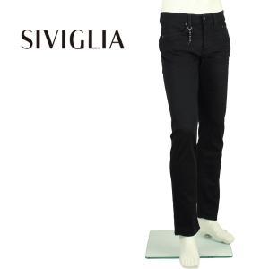 2018年春夏新作 国内正規品 SIVIGLIA シヴィリア/シビリア メンズ ストレッチ ウォッシュド テーパードデニム DENIM Core 221J/S996/9001/4 (ブラック)|laglagmarket