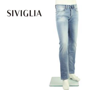 2018年春夏新作 国内正規品 SIVIGLIA シヴィリア/シビリア メンズ ストレッチ ウォッシュド テーパードデニム DENIM Core 22L3/S404/6003/3 (ブルー)|laglagmarket