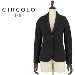 3789b42a638e9 決算売尽し CIRCOLO1901 チルコロ1901 コットンストレッチ ジャージー 2B シングルジャケット FD1130 9CD113001  227(チャコール)special priceAL