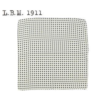 2018-19年秋冬新作国内正規品L.B.M.1911エルビーエム1911ドット柄ウールポケットチーフ9L65759593001(アイボリー×ネイビー)