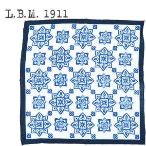 2019年春夏新作国内正規品L.B.M.1911エルビーエム1911花柄リネンポケットチーフPOCKETCHIEFAL65759246001(ブルー)