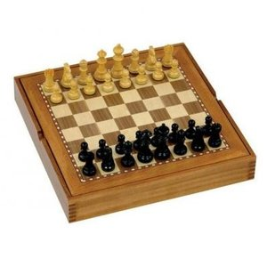 Jaques 15 in. ボックス ボード コンビネーション チェス セット & Draughts【19インチ】|lagopus-y