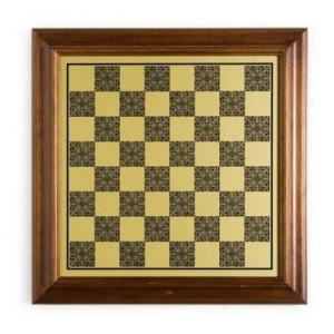 イタリアン Worm ウッド/Brass 台座 チェス ボード 1 9/16sq インチ.【18インチ】|lagopus-y