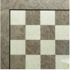 グレー & アイボリー チェス ボード【17インチ】|lagopus-y