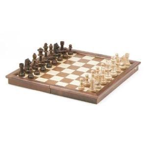 ウォールナット 折りたたみ チェスセット【17インチ】|lagopus-y