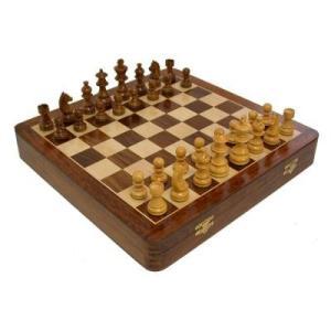 Camphor デラックス イングリッシュ チェスセット 収納付き【3.5インチ】|lagopus-y