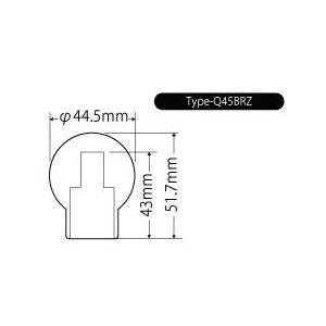 ジュラコン(R)製シフトノブ(MT車専用) タイプQ-BR M12×1.25 トヨタ 86 ZN6、BRZ ZC6、WRX STi GRB・GVB・VAB、スイフトスポーツ ZC32S Beatrush|laile|04