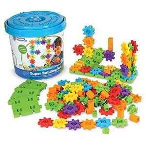 Learning Resources Gears! Gears! Gears! Super Building Toy Set, Puzzle, 150 Pieces, Ages 4+【並行輸入品】 lakibox28