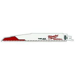 Milwaukee 48-00-5026 The Ax 9-Inch 5 TPI Reciprocating Saw Blades, 5-Pack好評販売中|lakibox28