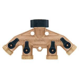 Orbit 62010N Brass Hose Faucet Manifold【並行輸入品】 lakibox28