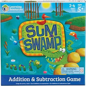 Learning Resources Sum Swamp Game, Homeschool, Addition/Subtraction, Early Math Skills, Math Games for Kids, Educational Board Games, Easter|lakibox28