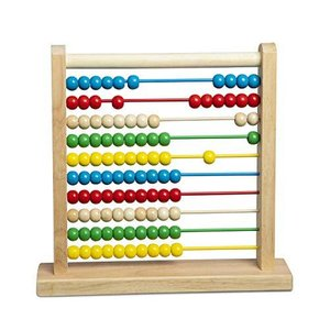 Melissa & Doug Wooden Abacus- Classic Wooden Educational Counting Toy with 100 Beads【並行輸入品】|lakibox28