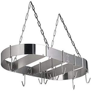 Calphalon 18 by 36-Inch Stainless Steel Oval Pot Rack好評販売中|lakibox28