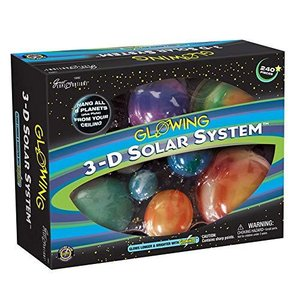 Great Explorations 3-D Solar System Glow In The Dark Ceiling Hanging Kit 3D Planets and Star Stickers Create the Milky Way Teach Science STE lakibox28