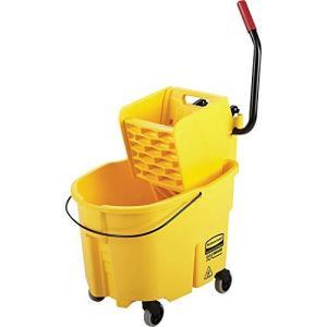 Rubbermaid Commercial Wavebrake Mopping System Bucket and Side-Press Wringer Combo, 35-quart, Yellow (FG758088YEL)【並行輸入品】 lakibox28