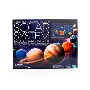 4M 3D Glow-in-the-Dark Solar System Mobile Making Kit - DIY Science Astronomy Learning Stem Toys Educational Gift for Kids & Teens, Girls & lakibox28