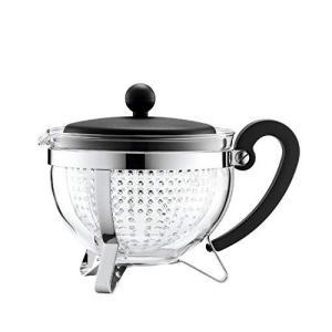 Bodum Chambord 1-Liter Tea Pot, 34-Ounce, Black【並行輸入品】 lakibox28