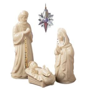 Lenox China Jewels Nativity Porcelain 3-Piece The Holy Family【並行輸入品】|lakibox28