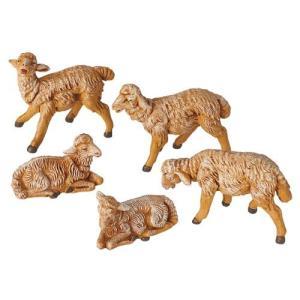 Fontanini by Roman Sheep Nativity Figurine, 5-Piece, 5-Inch Each【並行輸入品】|lakibox28