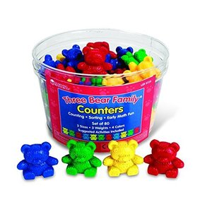 Learning Resources Bear Counters Set, Counting, Color & Sorting Toy, Set of 80, Ages 3+【並行輸入品】|lakibox28