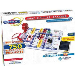 Elenco Snap Circuits Extreme SC-750 Electronics Exploration Kit   Over 750 Projects   Full Color Project Manual   80+ Snap Circuits Parts   lakibox28