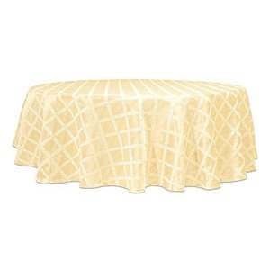 "Lenox Laurel Leaf 90"" Round Tablecloth, Ivory【並行輸入品】|lakibox28"