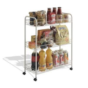 Metaltex USA Inc. Grande Cart, White, 3-Tier【並行輸入品】|lakibox28