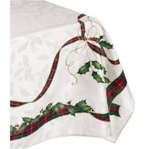 Lenox Holiday Nouveau Tablecloth, 60 by-104-Inch Oblong/Rectangle, Ivory【並行輸入品】|lakibox28