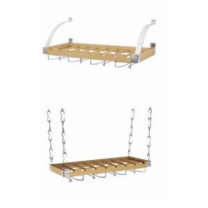 Concept Housewares Ceiling/Wall-Mount Wine Rack, Natural, 30 inch【並行輸入品】|lakibox28