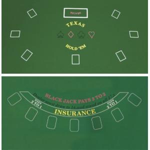 DA VINCI 2 Sided Texas Holdem and Blackjack Casino Felt Layout 36 Inch x 72好評販売中|lakibox28