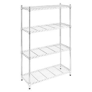 Whitmor 4 Tier Chrome Supreme 4 Tier Adjustable Shelves and Leveling Feet-3好評販売中|lakibox28